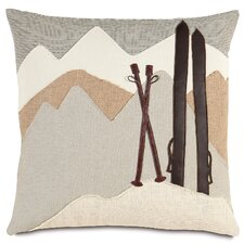 Ski Lodge On The Piste Throw Pillow