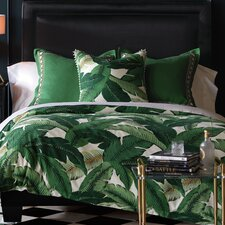 Lania Palm Button Tufted Comforter