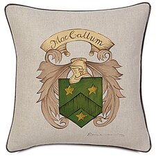 MacCallum Hand Painted Name Crest Throw Pillow