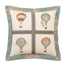 Kai Hand Painted Baloons Flange Throw Pillow