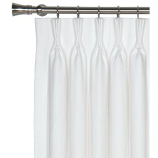 Breeze Pure Linen Cotton Pleated Single Curtain Panel