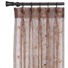 Alexia Embroidered Hazel Three-Finger Pleated Single Curtain Panel