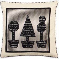Evelyn Fullerton Ink Topiary Block Printed Throw Pillow