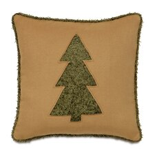 Candy Cane Fluffy Evergreen Throw Pillow