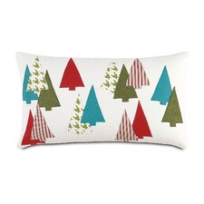 North Pole Thru The Woods Lumbar Pillow