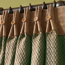 Sullivan Pleated Single Curtain Panel