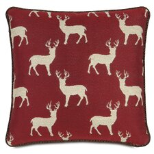 Nordic Holiday Rudolph Throw Pillow