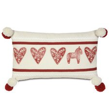 Nordic Holiday Lucy's Hearts Lumbar Pillow