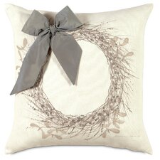 Dreaming of a White Christmas Wintry Wreath Throw Pillow