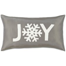 Dreaming of a White Christmas Snowflake Joy Lumbar Pillow