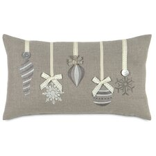 Dreaming of a White Christmas Glistening Ornaments Lumbar Pillow