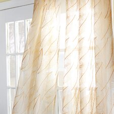 Antigua Collier Sunshine Rod Pocket Single Curtain Panel