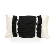 Evelyn Fullerton Ink Ruched Insert Decorative Throw Pillow