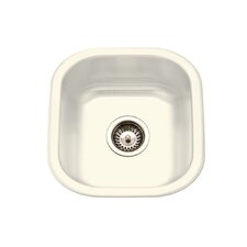 "Porcela 15.59"" x 17.32"" Porcelain Enamel Steel Undermount Bar Sink"