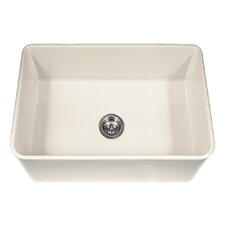 "Platus 30"" x 20"" Apron Front Fire Clay SIngle Kitchen Sink"