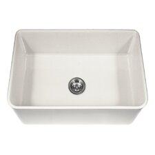 "Platus 30"" x 20"" Apron Front Fire Clay Single Bowl Kitchen Sink"