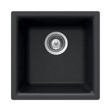 """Quartztone 15.75"""" x 15.75"""" Prep/Bar Dual Mount Kitchen Sink"""