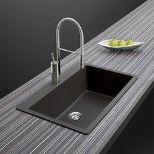 "Quartztone 33"" x 20.87"" Large Single Bowl Topmount Kitchen Sink"