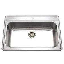 "Premiere Gourmet 33"" x 22"" Topmount Single Bowl Kitchen Sink"