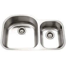 "Eston 32.19"" x 20.5"" Undermount 70/30 Double Bowl Kitchen Sink"