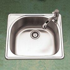 """Premiere Reflection 25"""" x 22"""" Topmount Single Bowl Kitchen Sink"""
