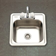 "Hospitality 15"" x 15"" Topmount 24 Gauge Bar Sink"