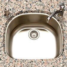 "Eston 23.44"" x 20.88"" Undermount D Shape Single Bowl Kitchen Sink"