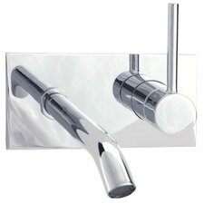 Techno Wall Mounted Bathroom Sink Faucet with Single Handle