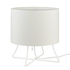 """Virgil Low 13"""" H Table Lamp with Drum Shade"""