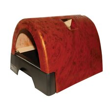 Designer Cat Litter Box with Burl Wood Cover