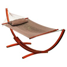 Caribbean Hammock with Stand and Pillow