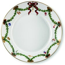 "Star Fluted Christmas 8.75"" Salad Plate"