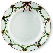 "Star Fluted Christmas 10.75"" Dinner Plate"
