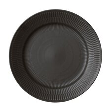 "Black Fluted 10.75"" Dinner Plate"