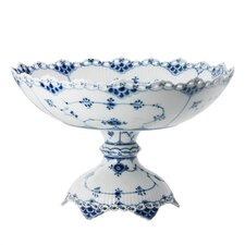 Blue Fluted Full Lace Cake Stand