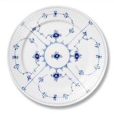 """Blue Fluted Plain 10.75"""" Dinner Plate"""