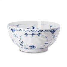 Blue Fluted Half Lace Salad Bowl