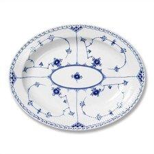Blue Fluted Half Lace Oval Platter