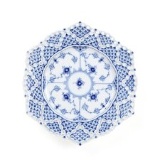 "Blue Fluted Full Lace 8.25"" Plate"