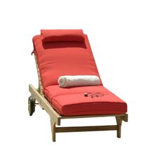 Boxed Outdoor Chaise Lounger Cushion