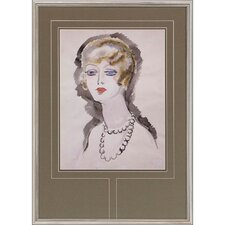 Woman with Pearls Framed Painting Print