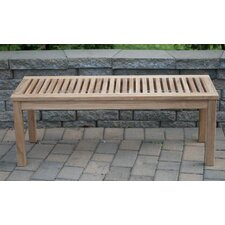 Calcutta Backless Solid Teak Picnic Bench