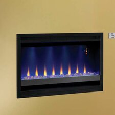 Builder Box Contemporary Wall Mount Electric Fireplace Insert