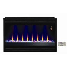 Contemporary Wall Mount Electric Gas Fireplace Insert