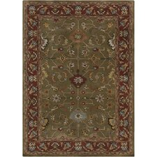 Bajrang Green/Red Area Rug