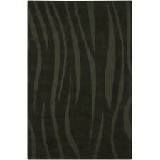 Ast Balck Abstract Area Rug