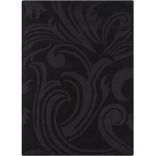 Jaipur Hand Tufted Rectangle Transitional Black Area Rug