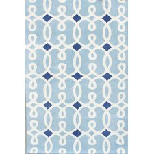 Davin Blue Geometric Rug