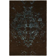 Veleno Brown and Blue Area Rug