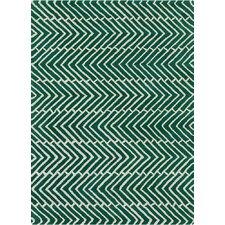 Davin Vibes Pattern Green Area Rug